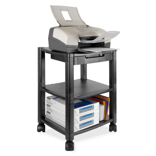 Kantek Ps540 Desk Side 3 Shelf Moblie Printer Fax Stand