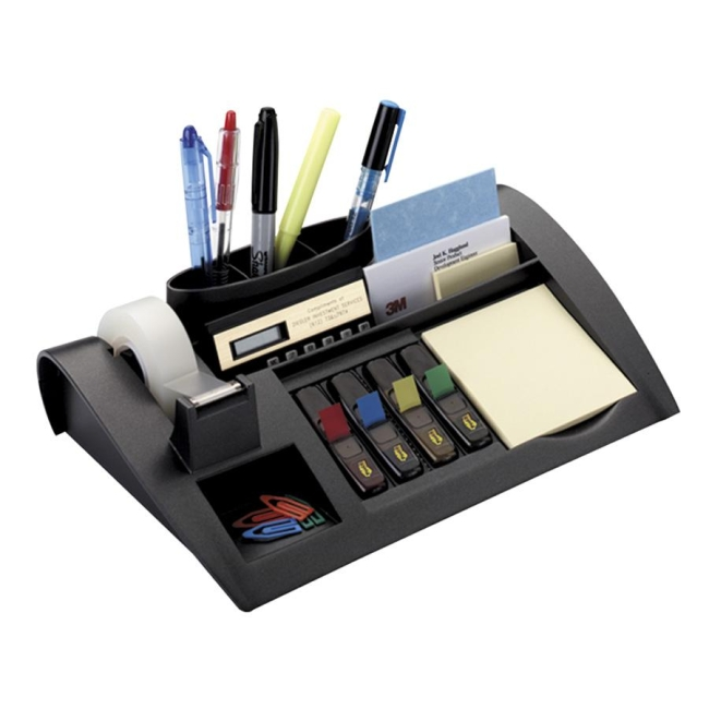 3m Weighted Desktop Organizer Black 1 Each