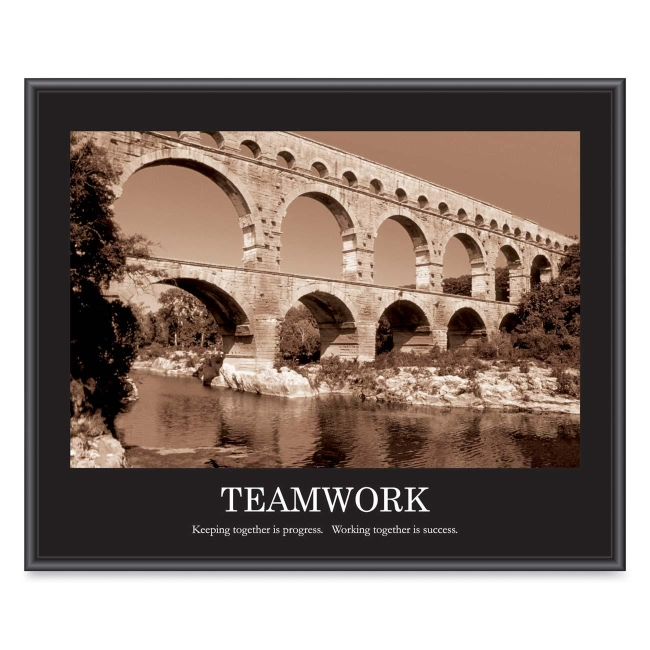 "Advantus Motivational ""Teamwork"" Poster - 30"" Width x 20"" Height"
