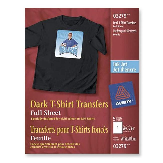for Avery t shirt transfer paper for laser printers