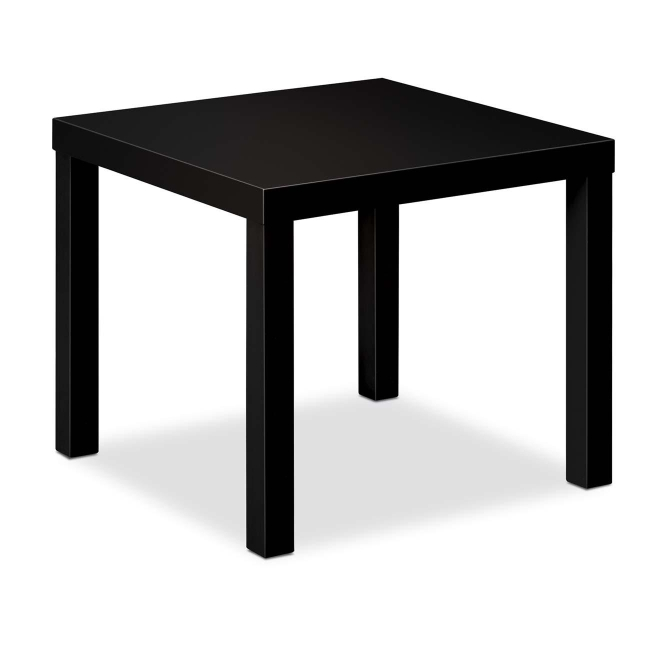 Superior Basyx BLH3170 Corner Table   Square Shaped   Black