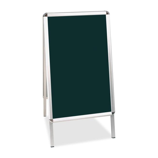 Bi silque wet erase display board black melamine for Office display board