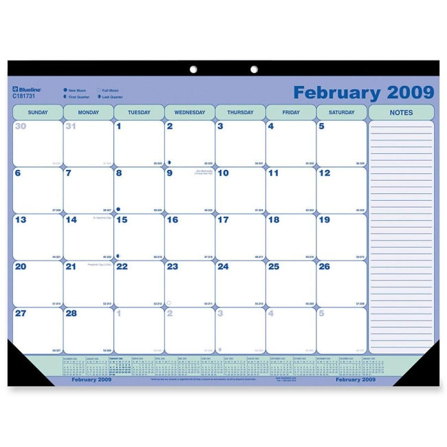 Brownline Monthly Desk Wall Calendar Pad 21 25 Quot X 16