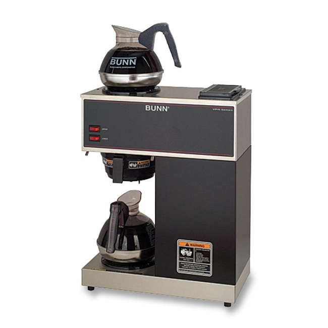 Bunn VPR Pour-O-Matic 2-Burner Pour-Over Coffee Brewer, Stainless Steel - Quickship.com