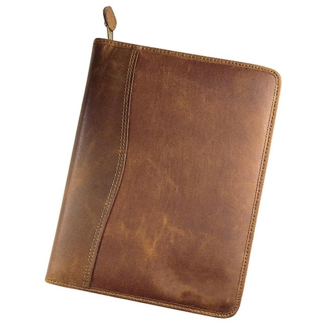 Day Timer Leather Zip Closure Starter Set Organizer 1