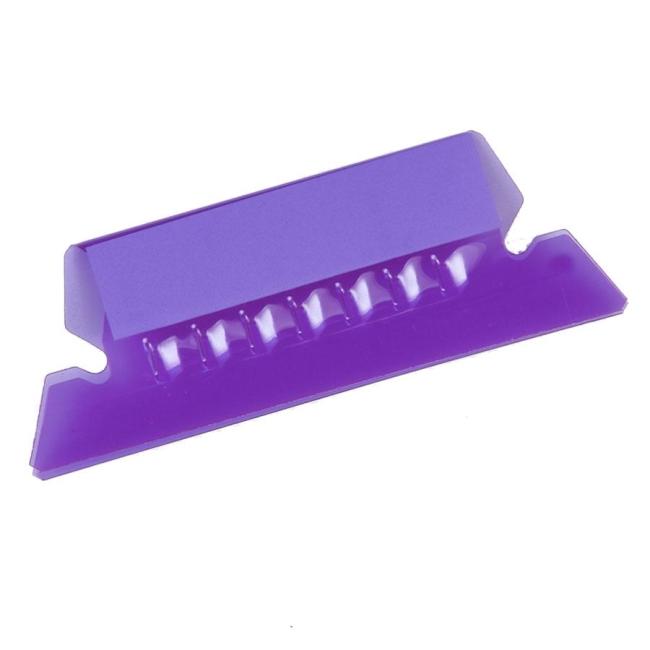 ... Plastic Hanging File Folder Tabs - 25 / Pack - Violet - Quickship.com