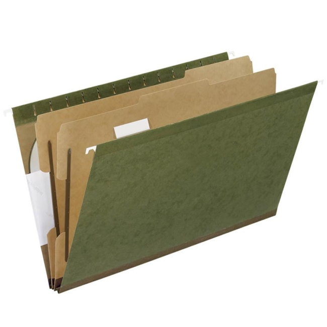 esselte recycled hanging folder 10 box green