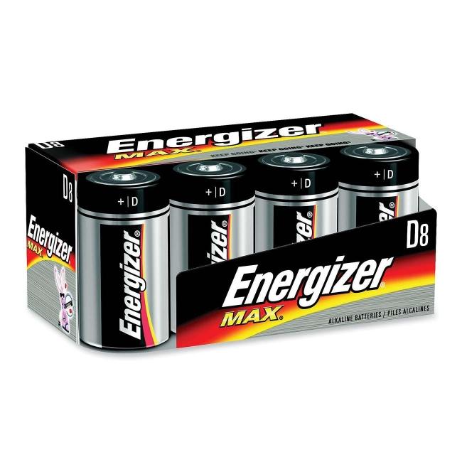 Eveready D Cell Alkaline Battery - 8 / Pack - Quickship.com