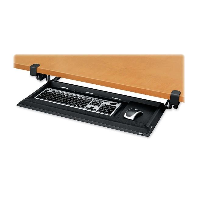 Fellowes Designer Suites Deskready Keyboard Drawer Black