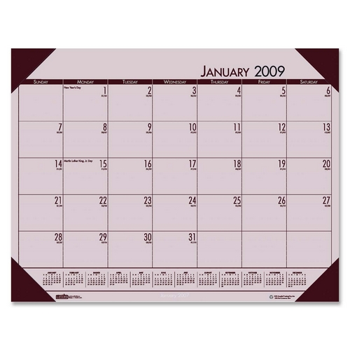 House Of Doolittle Ecotones 124 70 Desk Pad Calendar