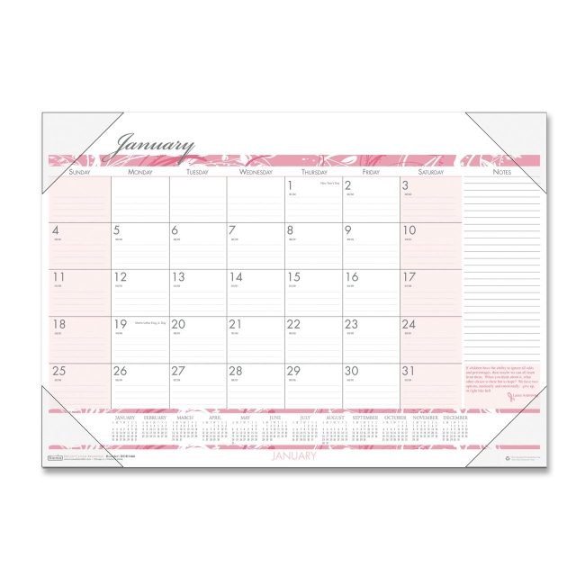 House Of Doolittle Breast Cancer Awareness Compact Desk