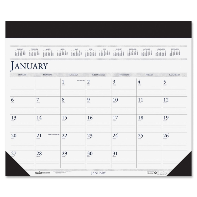 House Of Doolittle Deluxe Two Color Desk Pad Calendar