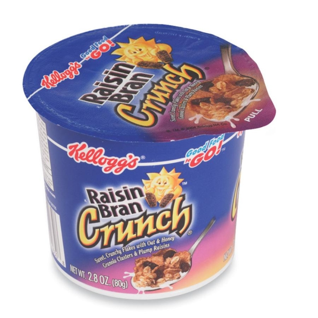 Chocolate Raisin Clusters Dunmore Candy Kitchen: Kellogg's Raisin Bran In A Cup Cereal 6 / Box