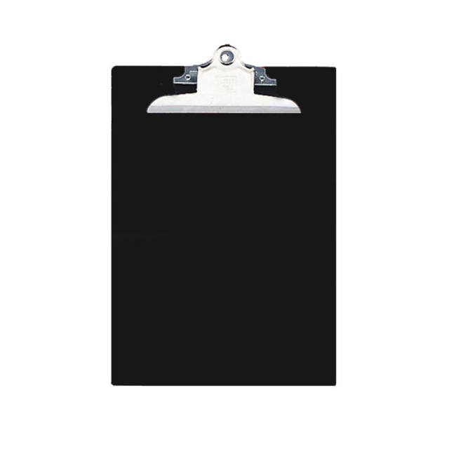 Nature Saver Recycled Clipboard Black on rubber desk accessories