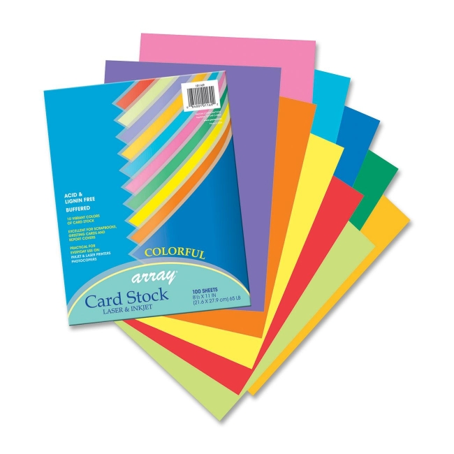 Pacon Array Heavyweight Card Stock Paper   Assorted Colors   100 / Pack  Resume On Cardstock