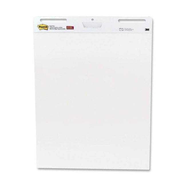 Post it self stick unruled easel pad 2 carton