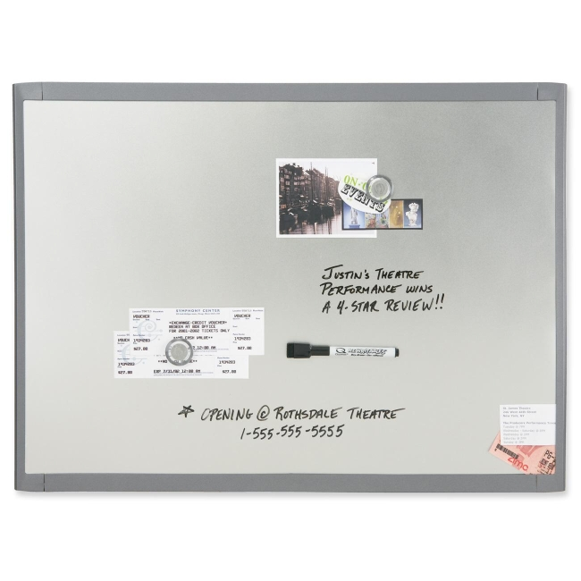 quartet dry erase board 1 each silver frame white - Large Dry Erase Board