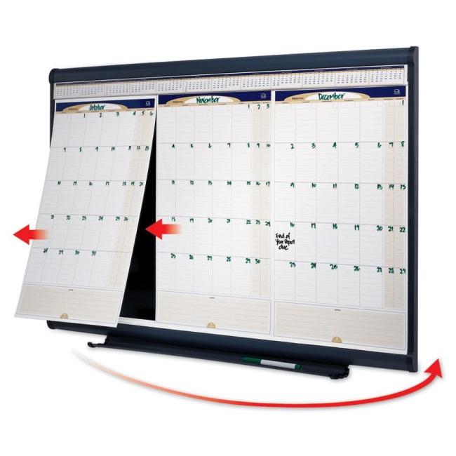 Office Calendar Board : Quartet erasable months modular wall calendar quot