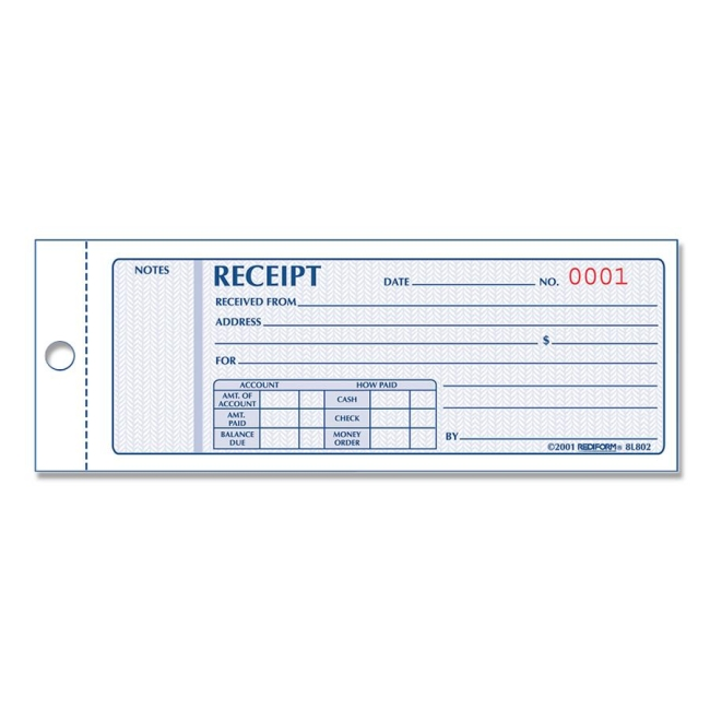 Rediform Money Receipt Collection Forms - Quickship.com