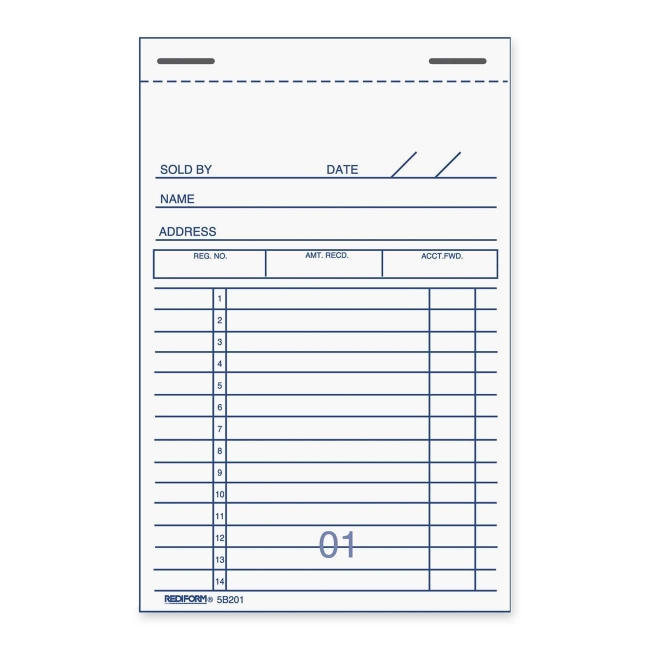 Rediform Sales Receipt Book  Free Printable Receipt Book