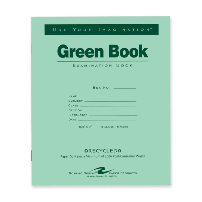 roaring spring examination book sheet com roaring spring examination book 8 sheet