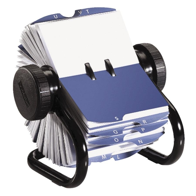 Rolodex Rotary Business Card File 225 x 4 Black Quickshipcom