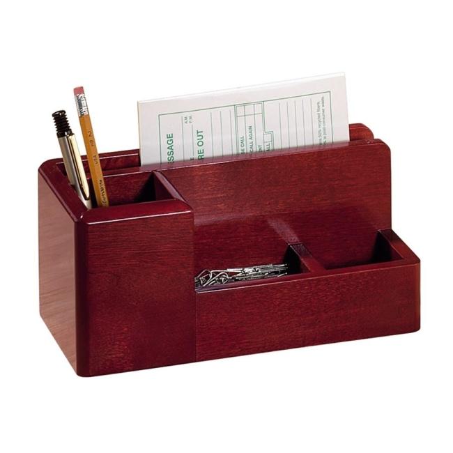 Rolodex Wood Tones Desktop Organizer Mahogany 1 Each