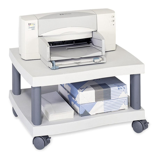 Safco Under Desk Printer Stand Gray Plastic