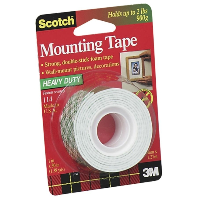 Scotch 114 Mounting Tape Double Sided 1 Roll