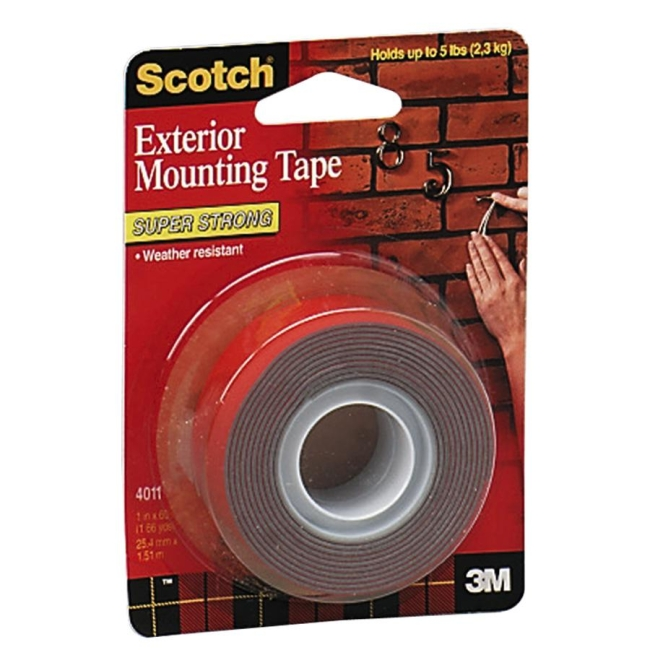 Scotch 4011 Exterior Mounting Tape 1 Roll