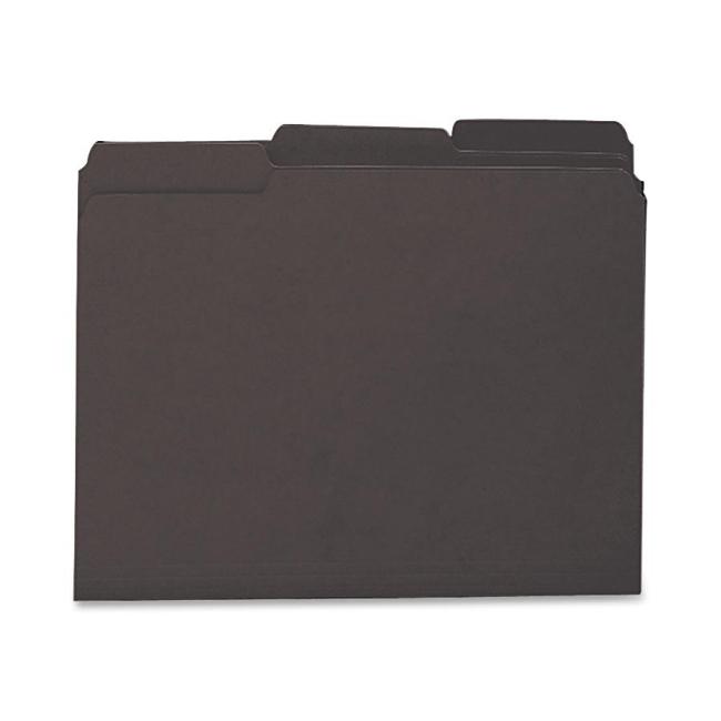 Smead Interior Folder Black Quickship Com
