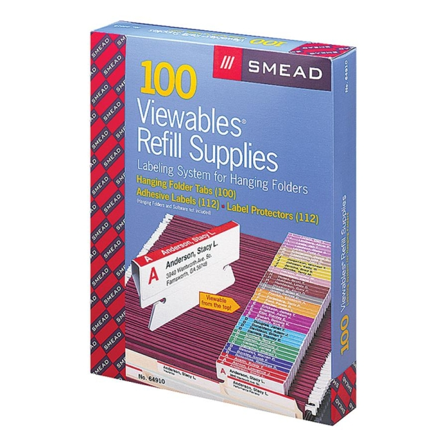 smead straight line viewables labeling system refill