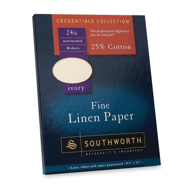 Southworth Fine Linen Paper 100 Box Ivory