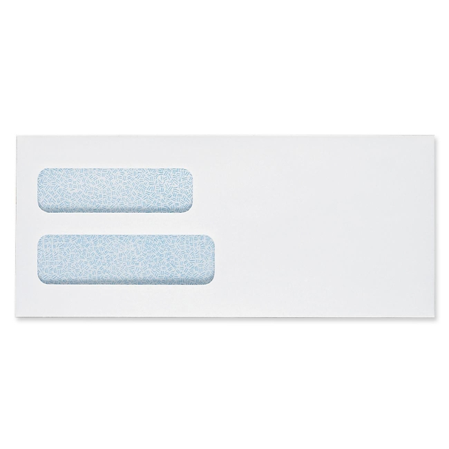 sparco double window envelope 10 500 box white