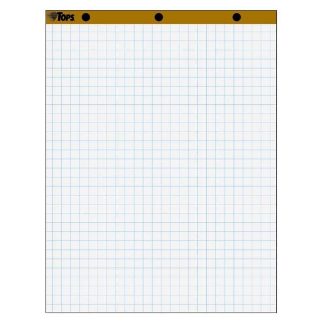 tops 1 u0026quot  grid square ruled easel pad   carton