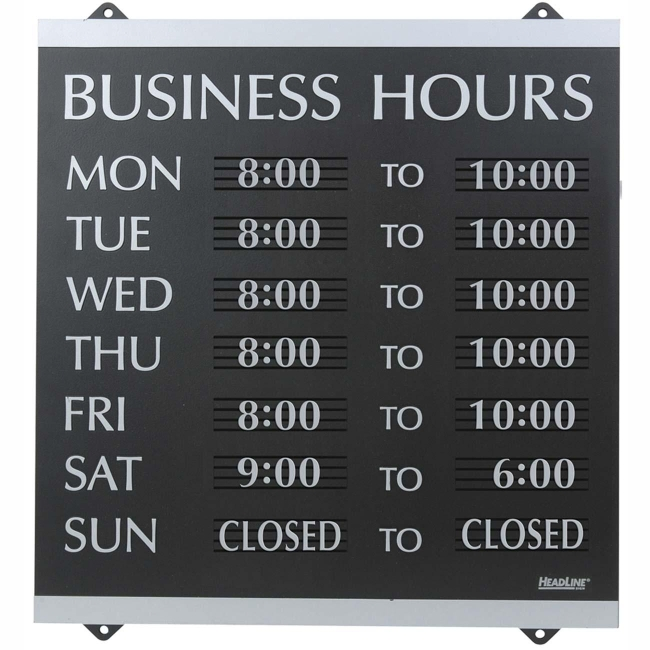 Stamp and sign century business hours sign quickship com