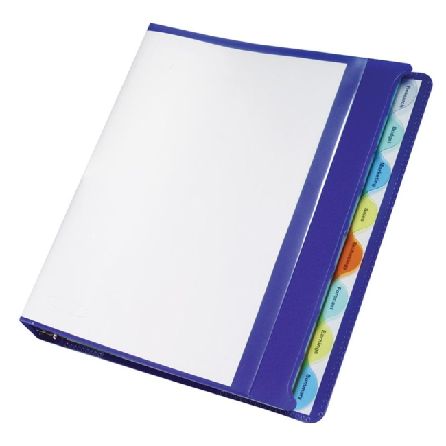 Wilson jones view tab presentation binder round shape for Templates wilson jones 8 tabs