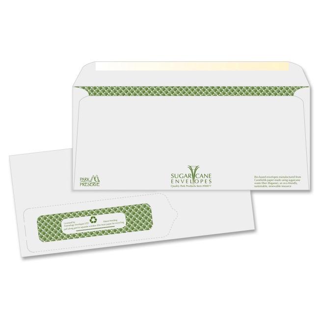 Quality park bagasse no 10 window envelopes single for 10 x 13 window envelope