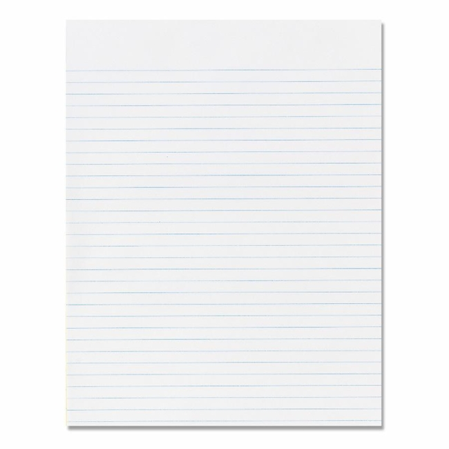Skilcraft Writing Pad 100 Sheet 16lb Wide Ruled Letter 85 – Wide Lined Writing Paper
