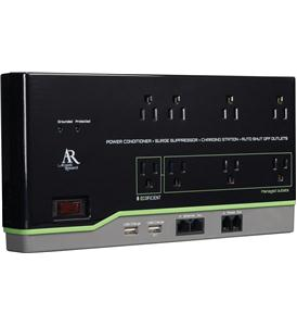 Audiovox 8 Outlet Home Surge Protector - Ecoefficient