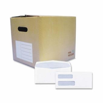 Quality Park Double Window Tinted Envelope - 1000 / Carton - White