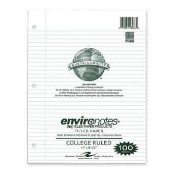 Roaring Spring Recycled Filler Paper - White - 1 / Pack