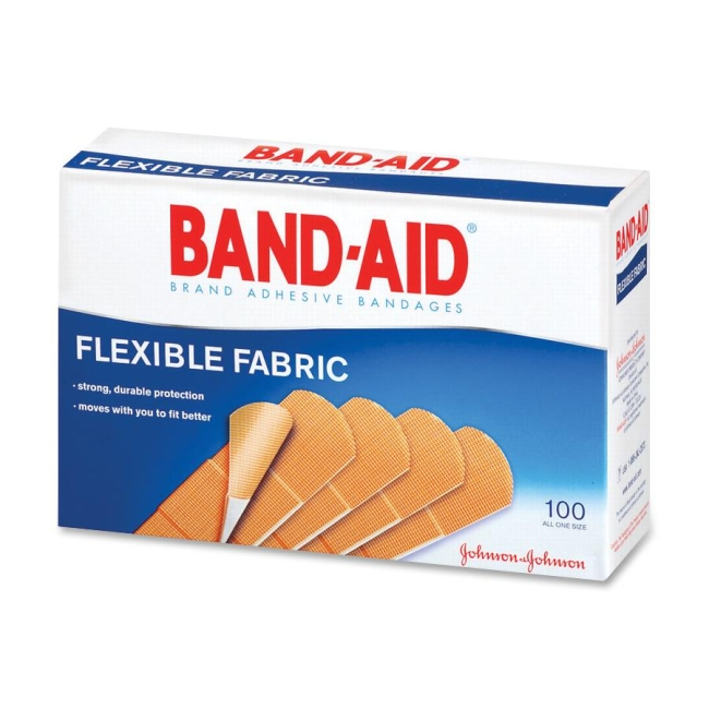 BAND-AID Flexible Fabric Adhesive Bandage 100 / Box 100 x ...