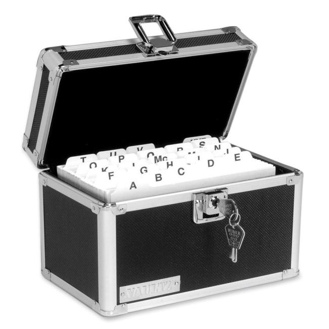 IdeaStream Vaultz Sturdy Locking Card File 350 Capacity
