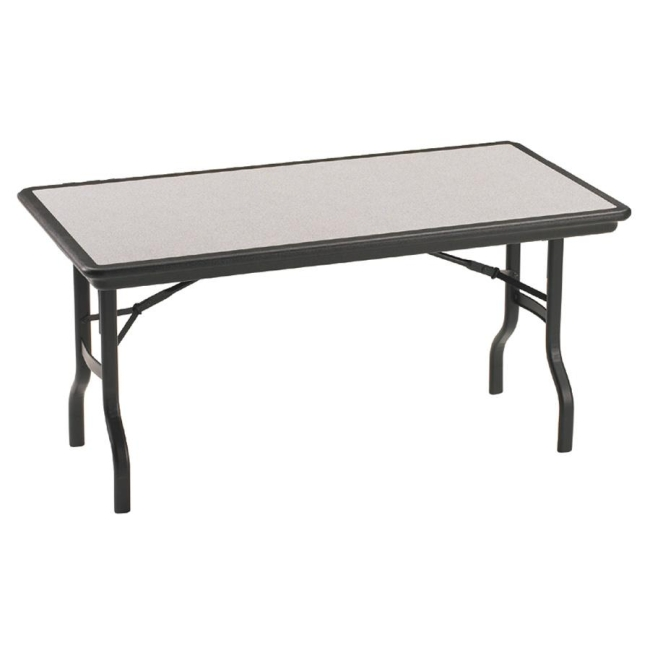 Iceberg Indestruc Table Rectangle Folding Table   Granite Inlay