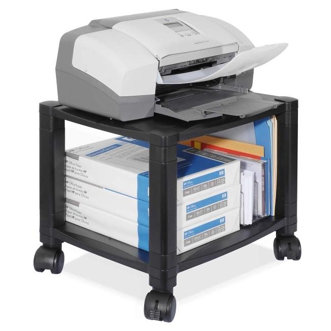 Kantek Ps510 Under Desk 2 Shelf Moblie Printer Fax Stand Black