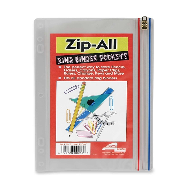 Anglers Zip All Ring Binder Pocket