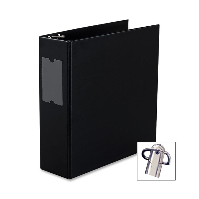 avery durable slant reference binder with label holder 3 capacity