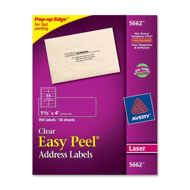 Avery Mailing Labels 700 Box Clear Quickship