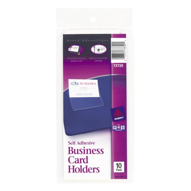 Avery 73720 self adhesive business card holder vinyl 10 pack avery 73720 self adhesive business card holder vinyl 10 pack clear colourmoves